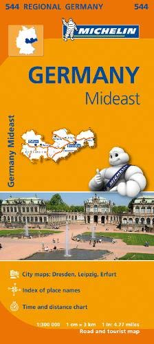 Germany Mideast - Michelin Regional Map 544 (Michelin Regional Maps) (Michelin Maps Deutschland)