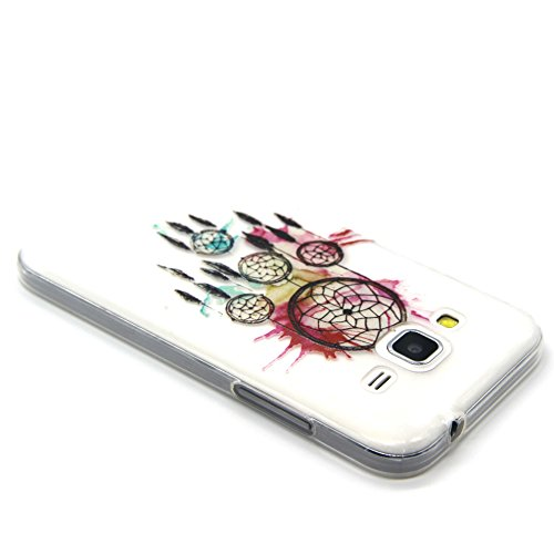 Coque pour Samsung Galaxy Core Prime, ISAKEN Transparente Ultra Mince Souple TPU Silicone Etui Housse de Protection Coque Étui Case Cover pour Samsung Galaxy Core Prime G360 (#3) #9