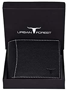 Urban Forest Sheldon RFID Blocking Black Leather Wallet for Men