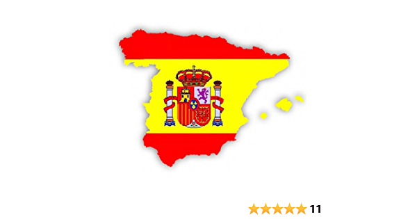 Auto Aufkleber Car Sticker Espana Spanien Spain Konturgeschnitten Ca 11x10 Cm Auto