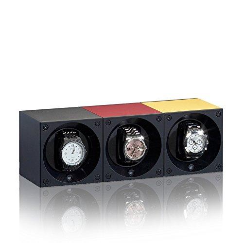 Swiss Kubik Uhrenbeweger Aluminium für 1 Uhr Batteriebetrieb schwarz SK01.AE001