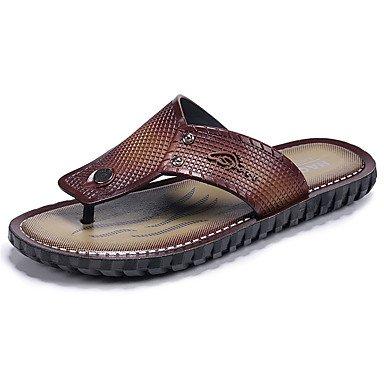 pantofole Infradito da uomo Pantofole & amp;Infradito Comfort PU Estate Outdoor piatto Heel Dar sandali US10 / EU43 / UK9 / CN44