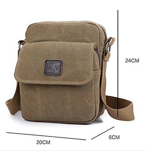 Baymate Unisex Shoulder Bag Studenti Sacchetto Di Svago Messenger Bag Cachi