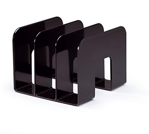 Durable 1701395060 trend porta cataloghi con 3 compartimenti, confezione da 1 pezzo, nero
