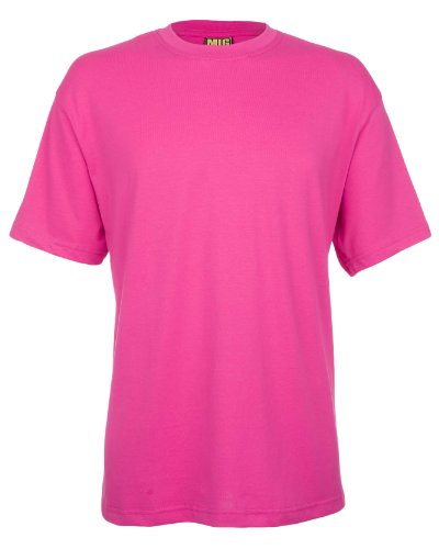 Mens Breathable Premium T Shirts Sizes XS to 4XL By MIG - WORK CASUAL SPORTS LEISURE (2XL / XXL, HOT PINK)