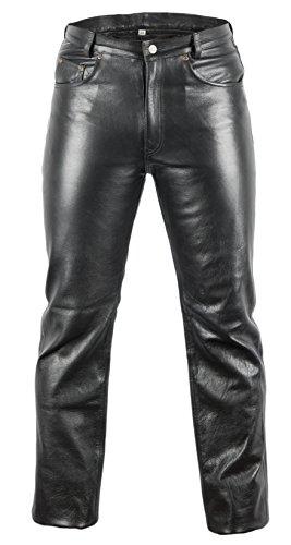 Lederjeans Bikerjeans Lederhose in schwarz (34) (Hat Reißverschluss Hinten)
