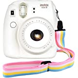 Camera Neck Shoulder Strap Belt For Fujifilm Instax Mini 8 / Mini 8+ / Mini 7s / Mini 25 / Mini 50s / Mini 90 / Pringo 231 / Instax SP 1 / Polaroid PIC-300P / Polaroid / DC - Pink Rainbow Belt