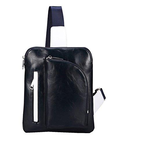 Yy.f Brusttasche Mann Leinwand Umhängetasche Mann Tasche Tasche Sporttaschen Herren-Taschen Volltonfarbe Tasche Blue