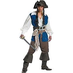 lancoszp Disfraz de Capitan Pirata de Halloween para Hombre, XL