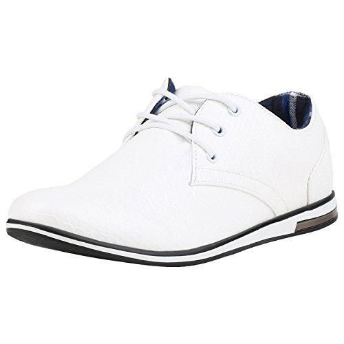 Klassische Herren Business Schnürer Modische Anzug Schuhe Weiss Cabanas 41