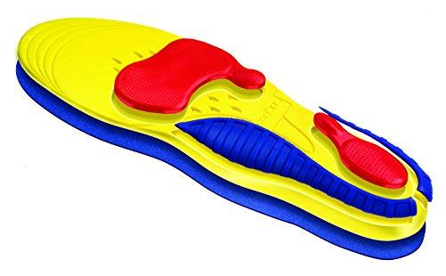 Spenco Ironman toutes les semelles de Sport Multicolore - Yellow/Blue/Red