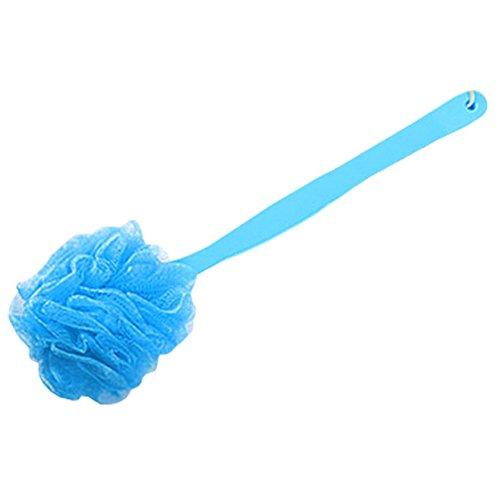 Hanging bain éponge luffa laveur bain mousseux Mesh éponge avec manche Bleu