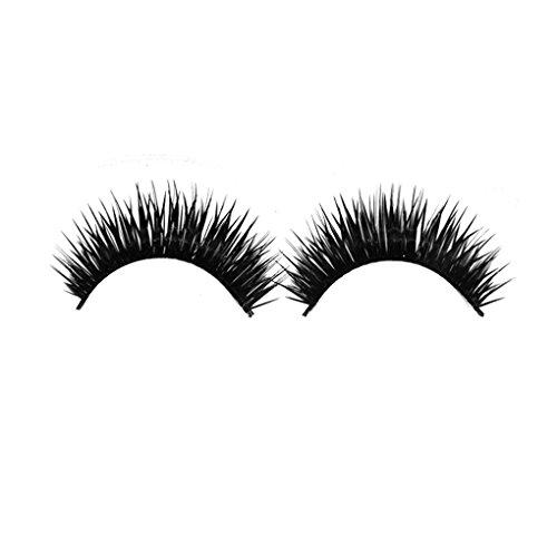 Double Layer Thick Crisscross Wiederverwendbare Fake Strip Wimpern für Augen Make up Bobury (Strip Wimpern)