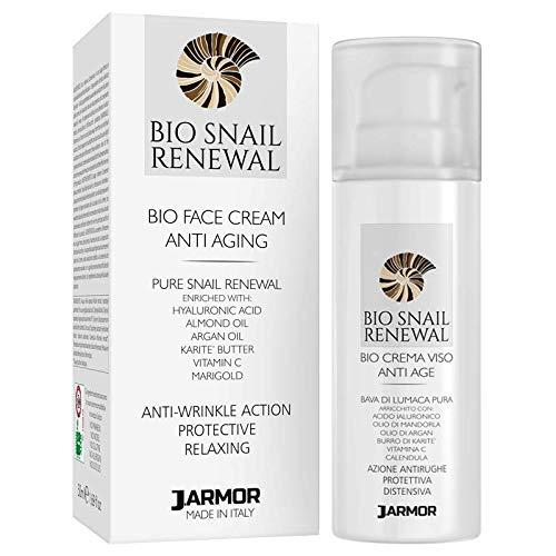 J.ARMOR Schneckenbohnen Gesichtscreme - für Gesicht Hals Dekolleté - Hyaluronsäure Vitamin C - Tages und Nachtcreme - Anti-Aging...