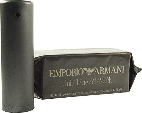 Giorgio armani emporio he/il 50ml eau de toilette spray per uomo, con sacchetto regalo