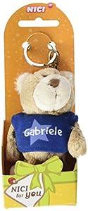NICI n15874-Llavero Oso con Camiseta Gabriele, Azul