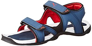 Puma Men's Jimmy DP Bering Sea and High Risk Red Athletic & Outdoor Sandals - 9 UK/India (43 EU)