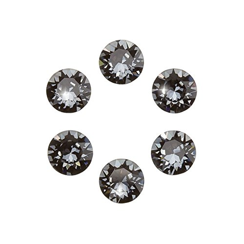 Swarovski 1088 Chatons Crystal Silver Night F 6 mm PK6