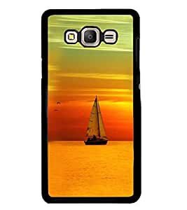Printvisa Boat Sailing At Sunset Scenery Back Case Cover for Samsung Galaxy On7::Samsung Galaxy On7 G600FY