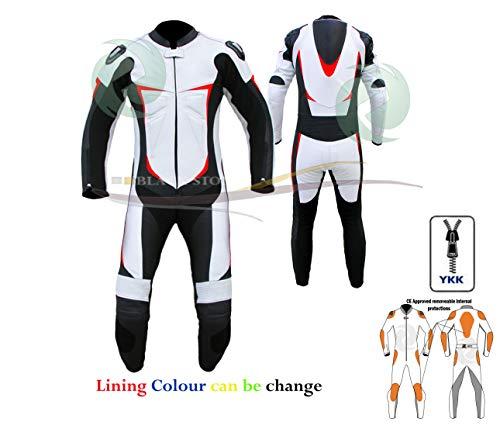 ZENS - Traje de piel para motociclista, multicolor, para hombre y mujer,...