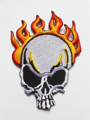 Costumes Flamme - Patches - Tête de mort flamme -