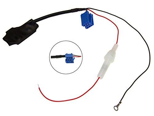 Adapter-Universe® KFZ Auto Radio AUX 12V Bluetooth Adapter Kabel Mini ISO 8pol Stecker Audio