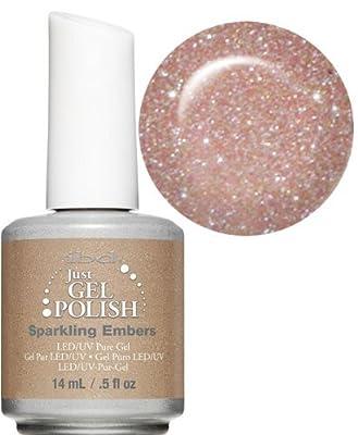 Ibd Just Gel Soak Off Led Uv Gel Nail Polish Sparkling Embers Nude Sparkle 14ml