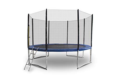 ms-point Gartentrampolin Trampolin Outdoor-Trampolin Fitness-Trampolin 305cm, inkl. Randabdeckung, Sicherheitsnetz und Leiter