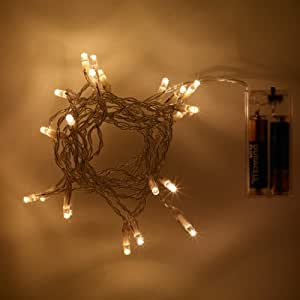 Battery Operated Fairy Lights with 20 White LEDs