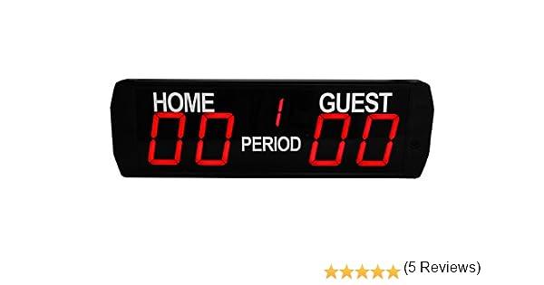 per cronometro e risultato di partite di basket GANXIN calcio 618 x 190 x 45/mm tabellone digitale con 5/cifre a LED per interni