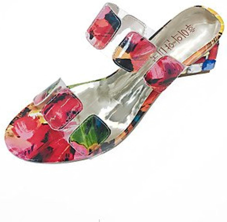 Las mujeres 039 s sandalias de verano al aire libre PU Confort Confort Ruby 2A-2 3 4inRubyUS9 UE40 UK7 CN41