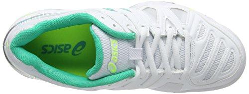 Asics Gel-game 5 Chaussures De Sport, Femme Blanche (blanc / Mint / Flash Yellow 167)