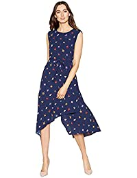 abdecc1369 John Rocha Womens Navy Floral Print 'Penny' High Low Shift Dress 20