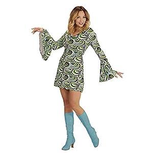 WIDMANN 08870 - Disfraz de adulto 70 (vestido retro, talla XXL), color verde y azul