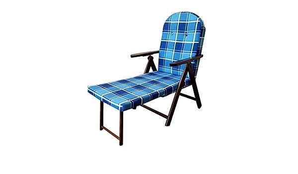 in legno reclinabile 4 posizioni cuscino imbottito soggiorno cucina giardino salone divano VERDE POLTRONA SEDIA SDRAIO CAMPANIA AMALFI CON PROLUNGA GAMBE