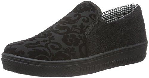 fiorucci-womens-fdag035-low-top-sneakers-black-size-5