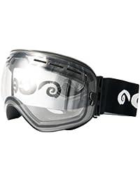 OCEAN SUNGLASSES Snowbird - Masque - Monture : Noir - Verres : FumÃBlackrolle (YH3201.0) 61ECgr