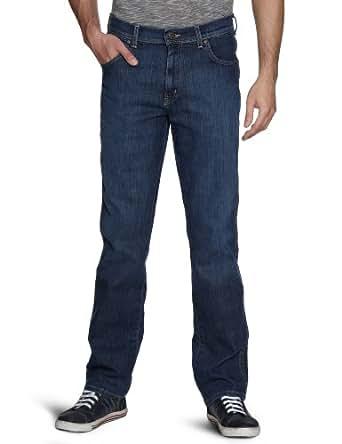 wrangler herren jeans hoher bund w121yh13m blau slub dark 32w 34l bekleidung. Black Bedroom Furniture Sets. Home Design Ideas