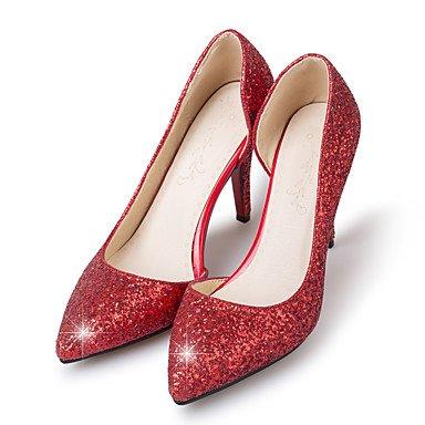 LvYuan Bureau & Travail Habillé Soirée & Evénement-Rouge Argent Or-Talon Aiguille-club de Chaussures-Sandales-Synthétique Silver