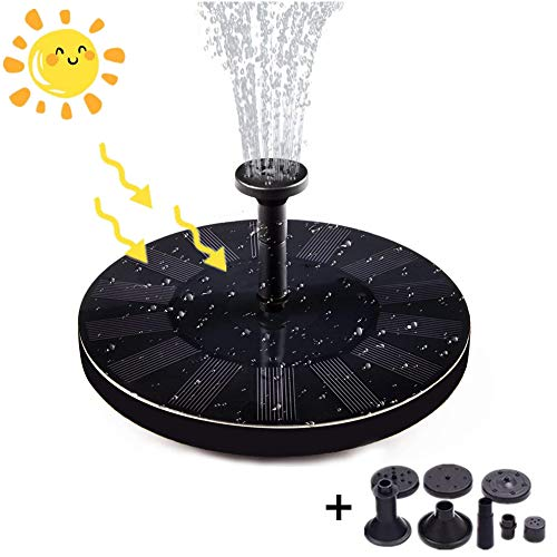 7 Watt-tier-licht (Maylove Solar Springbrunnen, 6 Effekte Solar Teichpumpe mit 7V 1.4W Monokristalline Solar Wasserpumpe Schwimmender Fontäne Pumpe für Gartenteich Springbrunnen Vogelbad Teich Aquarium Garten)