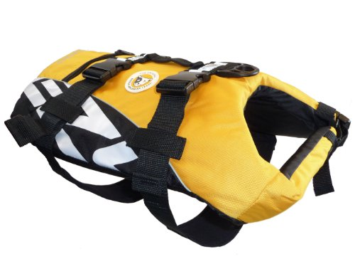 EzyDog Seadog Hunde-Schwimmweste, Größe L, gelb