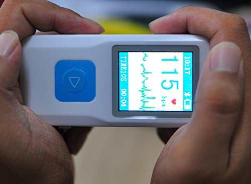 Denshine Portable ECG EKG Machine Heart Beat Monitor,USB, Bluetooth,LCD