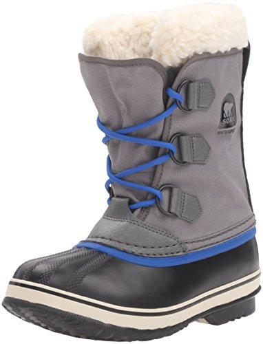 Sorel Jungen Yoot Pac Nylon Schneestiefel, Grau (City Grey), 32 EU (Fashion Stiefel Weather Cold)