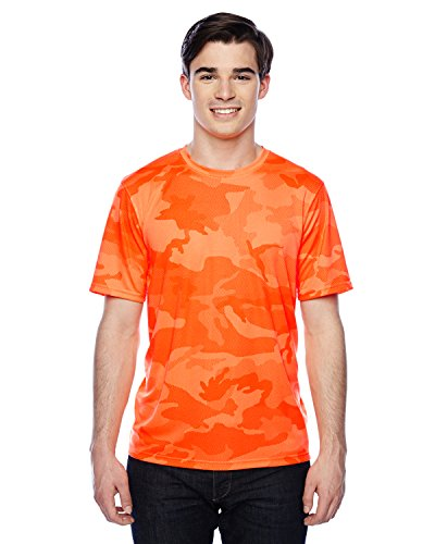 Stag Party, Brown auf American Apparel Fine Jersey Shirt - Safety Orange Camo