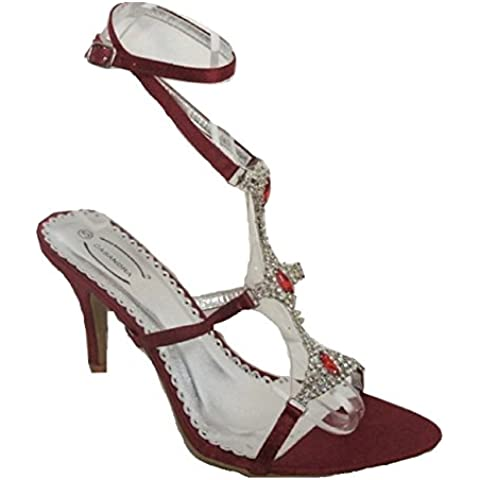 Casandra Rosso con cinturino alla caviglia Sandali