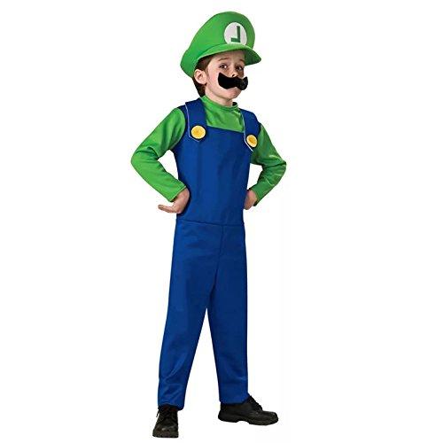 Luigi Kostüm L - thematys Super Mario Luigi Mütze +