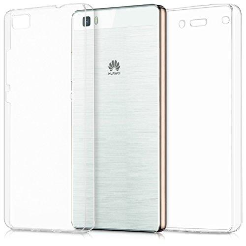 Kwmobile huawei p8 lite (2015) cover - custodia in silicone tpu fronte retro - front back case protezione cristallina per huawei p8 lite (2015)