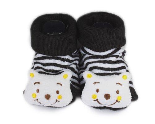 BONAMART ® Baby Junge Mädchen Karikatur Söckchen Schuhe 3D Socken Babies viele Muster 0-6 months weiß tragen