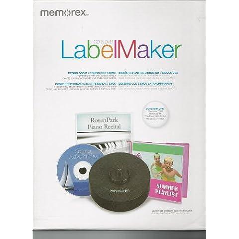 Memorex-DVD CD & LabelMaker Etichette per stampante, colore: bianco, Non adesivo etichette per stampante Laser/a (Getto D'inchiostro Bianco Cd Dvd Etichette)
