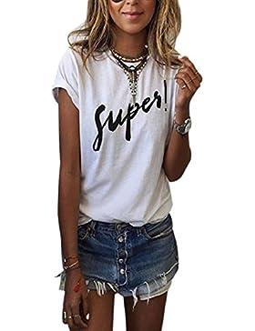 Sannysis Damen Sommer-Kurzarmshirts T-Shirt